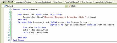 Kupang Prosedur Dan Fungsi Pada Visual Basic